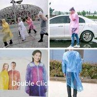 Fashion One-time Raincoat Disposable PE Raincoats Poncho Rainwear Travel Rain Wear Coat