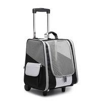 Pet Tekerlek Taşıyıcı Köpek Kedi Seyahat Taşıma Çantası Haddeleme Bagaj Sırt Çantası Tote Arabası Çantaları Köpekler için Arabası Bırakma Gemi Bavullar