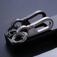 Jobon zhongbang carro chaveiro personalidade masculina simples cintura criativa pendurado pingente de anel de metal