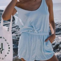 Women's Tracksuits 2021 Summer Fashion Sexy Casual Suit Solid Color Outfits Sleeveless Sling Vest + Shorts Two-piece Female