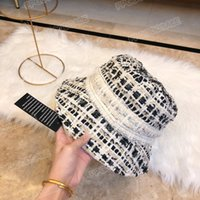Autumn and winter high-quality plaid woolen fisherman hat female all-match color party shopping play essential