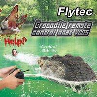 Control remoto Cabeza de cocodrilo, animales RC, juguete de miedo divertido eléctrico, nadar en agua, chocolate, christal, niño niño nacimiento
