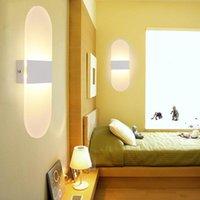 12W 18W 현대 LED 벽 램프 아크릴 침대 룸 빛 생활 앉아 앉아있는 휴양지 욕실 마운트 sconce