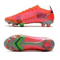 축구 신발 Mercurials Vapores 14 엘리트 스펙트럼 팩 도매 밝은 크림슨 금속 실버 14S FG 축구 클리트 볼트