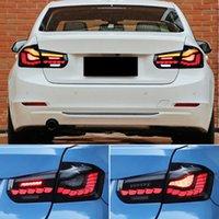 2 قطع سيارة الصمام الذيل ضوء الضوء الخلفي لسيارات BMW F30 F35 F80 316i 318i 320i 325i 330i 330i 2013-2019 الخلفية الضباب مصباح الفرامل عكس إشارة ديناميكية