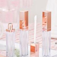 5ml DIY LIPGLOSS Boîte en plastique Boîtes d'emballage Bouteilles Conteneurs Vider Rose Gold LipGloses Tube Eyeliner Conteneur Mini Lip HWF8877