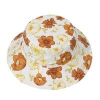 طفل الفتيات الصياد القبعات الربيع الصيف الرضع الأطفال متعددة الصياد القبعات لطيف الزهور الطباعة القبعات الوليد أزياء قبعة GWC6965