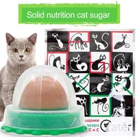 Kedi Oyuncaklar 1 ADET Catnip Şeker Katı Uzun Güçlü Enerji Topu Beslenme Kremi Yalama Şeker Kediler Güzel