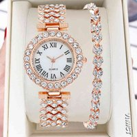 Marca de luxo do design! ! Mulheres pulseira Es Steel Belt Love Rhinestone Quartz Wrist Fashion para mulheres