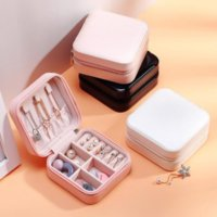 Storage Box Travel Jewelry Boxes Organizer PU Leather Display Storage Case Necklace Earrings Rings Jewelry Holder Gift Case Boxes