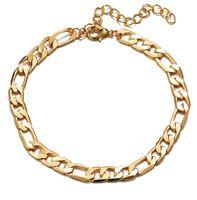 Color Figaro Snake Link Change Anklet для женщин Мужчин Мужчины Браслет голенолы Мода Пляж Аксессуары Ювелирные Изделия PS1211