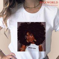 الرجال الميلانين رواج طباعة فتاة القمصان أسود الأفريقي مجعد الشعر فام المتناثرة الملابس امرأة هبوط السفينة