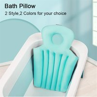 Other Bath & Toilet Supplies Adult Folding Bathtub Cushion SPA Head Rest Pillow Baby Bathing Pad Bed Anti-slip Net Cushioned Tub