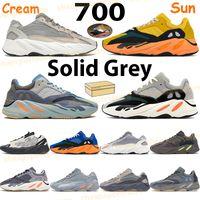 Sun كريم الاحذية رجالي الاحذية 700 حذاء عاكس الكربون الأزرق فانتا تيفرا الصلبة رمادي الجمود ثابت العظام الرجال النساء المدربين الرياضية مع صندوق