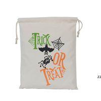 HALLOWEEN CONDY BAG Подарочный мешок угощение или трюк тыквенные напечатанные сумки Hallowmas Рождественская вечеринка фестиваль DrawString Bag HWE8192