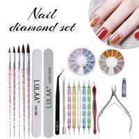 Nail Art Kits 19pcs Tool Kit Supplies Includes File, Clipper, Rhinestones Tool, Dotting Pen For DIY