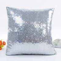 Envío gratis 10pcs / lot 16x16 pulgadas Nueva llegada de la almohada de la lentejuela de sublimación para el hotel / cama / decoración 2108 V2