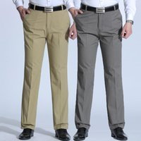Men's Pants Spring And Summer Brand Trousers Middle-aged Men Thin Casual Solid Color Loose Pant High Waist Man Trouser