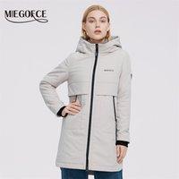 Miegofce Kadınlar Ceket Kapitone Ceket Bayanlar Rüzgar Geçirmez Ceketler Büyük Parka Diz Boyu Su Geçirmez Mat Malzeme 210923