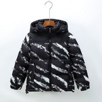 Winter North Children's Ski Down Jacket Letter Printing Design Clothing Outdoor Windproof Warm Hooded Jackets Outerwear Face Coats Parkas 200