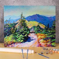 Dipinti Paesaggio Primavera Giorno FAI DA TE Paint by Numbers Set dipinge ad olio 50 * 70 tavole a mano a mano per bambini Art