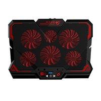 Taşınabilir Oyun Laptop Soğutucu Soğutma Pedi W / 6 Sessiz LED Hayranları Için 13-17 Inç Dizüstü Ayarlanabilir Standı Bırak Pedleri