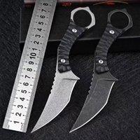 전투 드래곤 karambit D2 철강 발톱 나이프 야외 사냥 정글 싸움 자기 방어 생존 나이프 UT121 UT85 UT88 Ludt Godfather 920 실용 도구 C07 Exocet