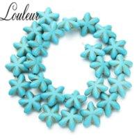 Natürliche Starfish Blueturquoises lose Perlen Steine Perlen für Schmuck machen DIY