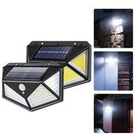 Lâmpadas solares Luzes de segurança sensor de movimento 40leds 90led 100leds 114leds impermeável ip65 iluminação ao ar livre para parede de jardim