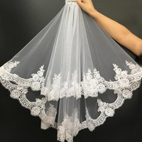 Bridal Veils Short Wedding 2021 With Comb Two Layers White Ivory Mariee Velos De Novia Voile Mariage