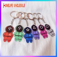 Squid Game Keychain Acrylic Key Pendant Ornament Decoration Toy Popular Games Cosplay Key Ring 2021 New Product DHL