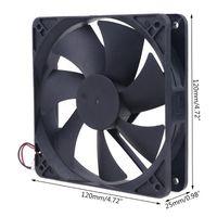 Almohadillas de enfriamiento portátil C1FB Marca Ventilador original del servidor para Yate Loon D12SM-12 12V 0.30A 120 * 120 * 25mm 12 cm ANT Miner