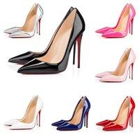 Femme de mariée robe chaussures bas talons hauts plate-forme peep-orteils sandales designeur sexy pointu orte rouge Sole 8cm 10cm 12cm pompes de luxe femmes nues nues box brillante
