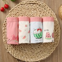 4pcs lot Girls Underwear Teenage Pure Cotton Panties Girl Watermelon Print Boxers Children Princess Shorts Underpants Baby 2131 Q2