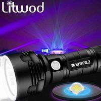 XHP70.2 Super leistungsstarke LED-Taschenlampe USB-taktische Torchl2-Lampe-Flash wiederaufladbar 26650 Batterielaterne zum Camping und Angeln 201204