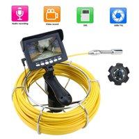 TFCARD DVR IP68 4.3 رصد التفتيش الأنابيب المحمولة كاميرا فيديو استنزاف المجاري خط أنابيب النظام الصناعي ل fish finder