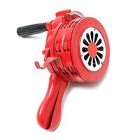 """Alarm Sistemleri Emniyet Emri 4.5 """"Kırmızı Alüminyum Alaşım El Kumandalı Güvenlik Hava RAID Siren Taşınabilir Güvenlik"""