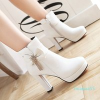 size 32 to 43 white wedding boots bridesmaid shoes winter designer boots beige pink black