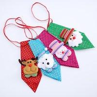 Рождественская галстука для мальчика новинка для детей дети дети Санта-Клаус снеговик галстук фестиваль подарок вечеринка танцевальная декорация ZZE5283