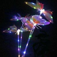 Tiktok LED Schmetterlingsflügel Glanz Spielzeug Beleuchtung Landschaftsweg Yard Light Garten Lichter Schmetterling Fairy Flash Stick Gifts Decor G58X6er
