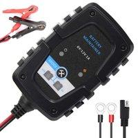 6V12V Automatisk Trickle Batteriladdare Smart Batteriladdare för bil Motorcykel Lawn Mower SLA AGM Cell Våt blybatterier