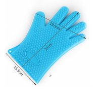 NEWmitts Silicone gloves microwave oven baking waterproof non-slip five-finger heart shape heat insulation kitchen BBQ grill RRD8250