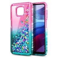 Liquid Quicksand Glitter Fundas para teléfonos para Moto G Power 2021 La cantidad mínima de pedido Cada color de color 50 PCS