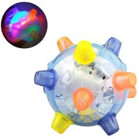 Cat Toys 12cm LED Jumping Ball Play Pet Dog Light Up Music Flashing Bouncing Vibrating Chew Electric Dancing