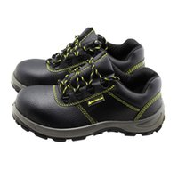 Safety shoes Steel Toes buffalo leather sports shoe Black Breathable Anti-smashing Outdoor Hiking Sneakers Size 36-46 S1P SRC 301102