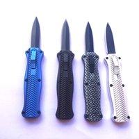 도매 미니 나이프 국방 자동 칼 경량 섕크 튼튼한 봄 검은 블레이드 전술 접는 칼