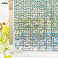 Privacy Window Film Frosted Glass Stained Static Clings Non-...