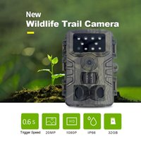 Cameras Hunting Trail Camera 20MP 1080P Waterproof PIR Infrared With Night Vision Wildlife Cam Surveillance Tracking PR700