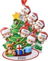 عائلة من 7 2020 المعلقات عيد الميلاد السنة من الحجر الصحي تذكار شجرة عيد الميلاد شنقا زخرفة