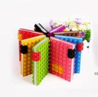 FIDGET 장난감 크리 에이 티브 빌딩 블록 노트북 A4A5A6A7 압축 해제 실리카 젤 퍼즐 노트북 실리콘 학생 메모장 DHF11076